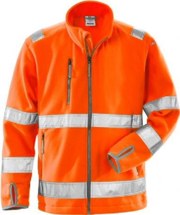 Fristads High Vis Fleece Jacket CL 3 4400 FE (Hi Vis Orange)